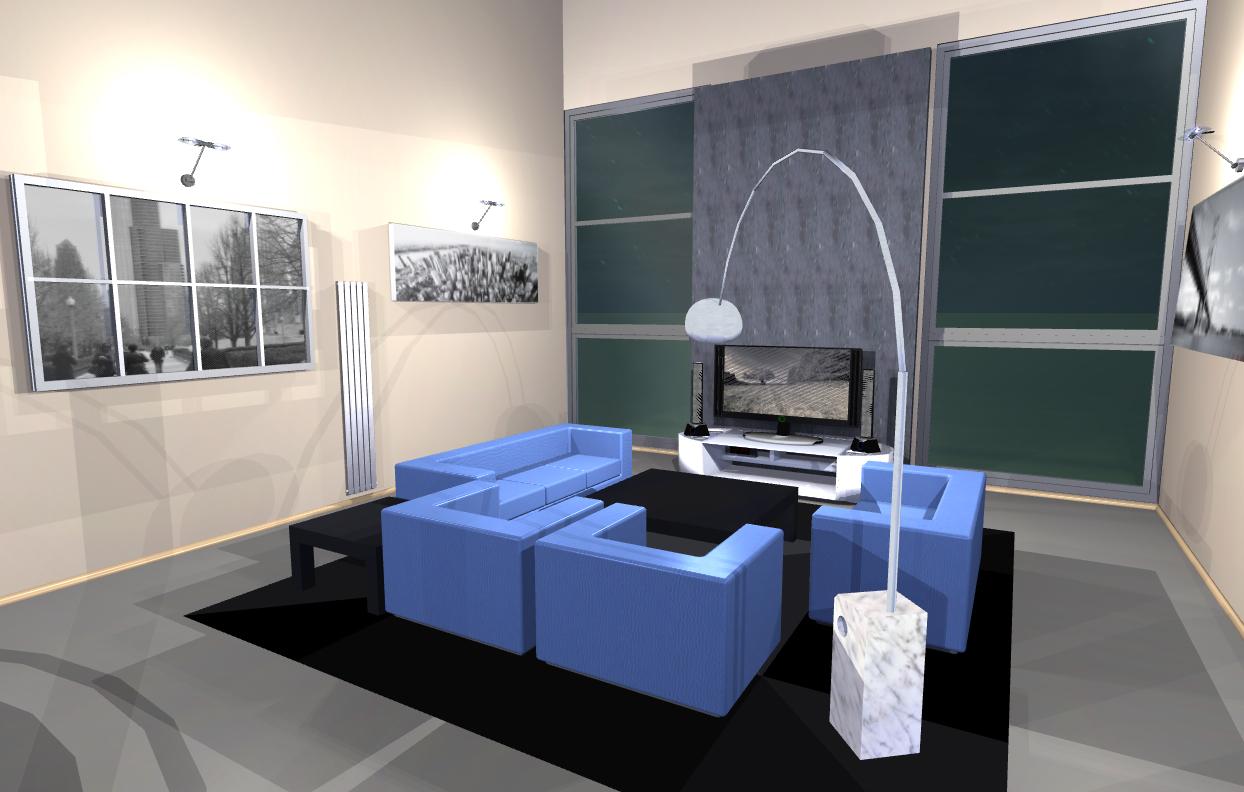 Illuminati la luce a 360 progetto di un loft for Arredi sketchup