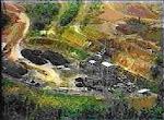 Cratera de exploração de manganes em serra do navio.