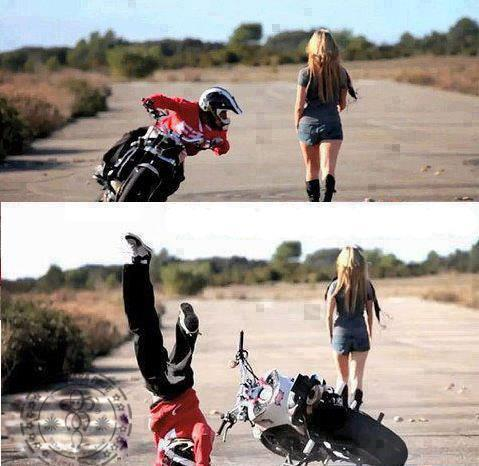 Moto Accident Because Of A Chick...