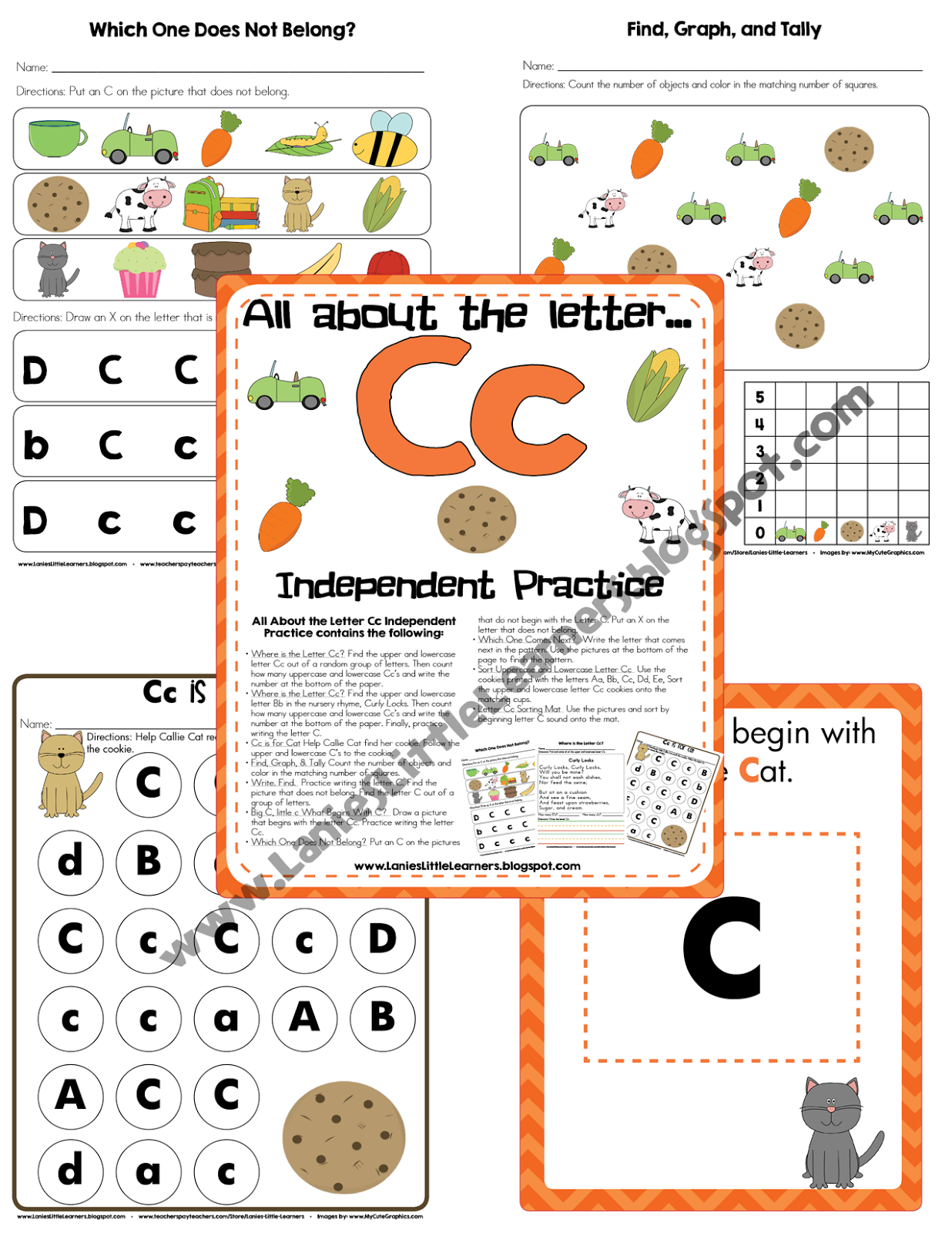 All About the Letter Cc Independent Practice