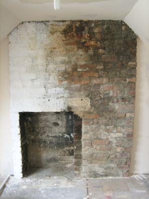 Our Handmade Home - Brick Chimney Breast