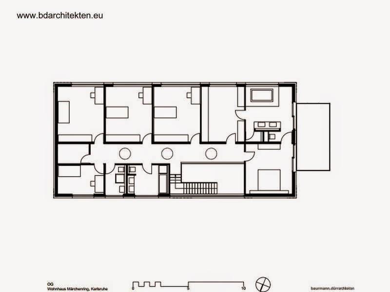Plano de planta del nivel superior de la casa