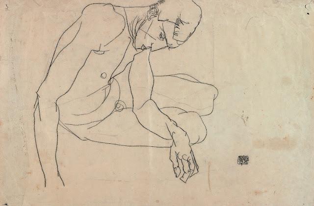 Simple Continuous Line Art : Artwork year 2: egon schiele continuous line drawings