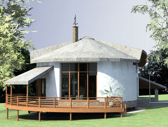 Строительство двухэтажного соломенного дома в Днепропетровске