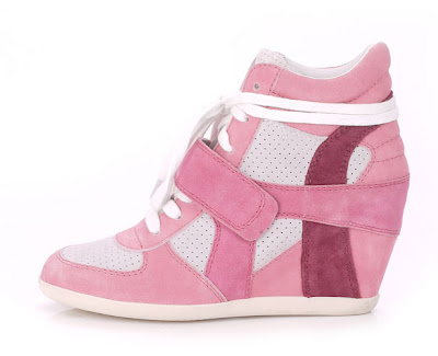 Ash wedge trainers in pink