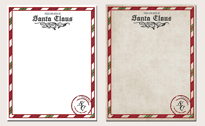 Letter from santa printable i chose the plain background for my boys letters and then printed it on a really nice parchment paper i am so excited for them to read these spiritdancerdesigns