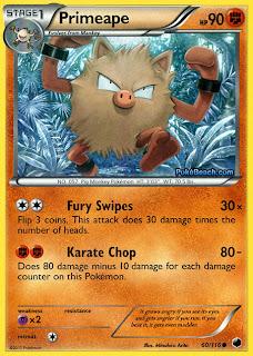 Primeape Plasma Freeze Pokemon Card