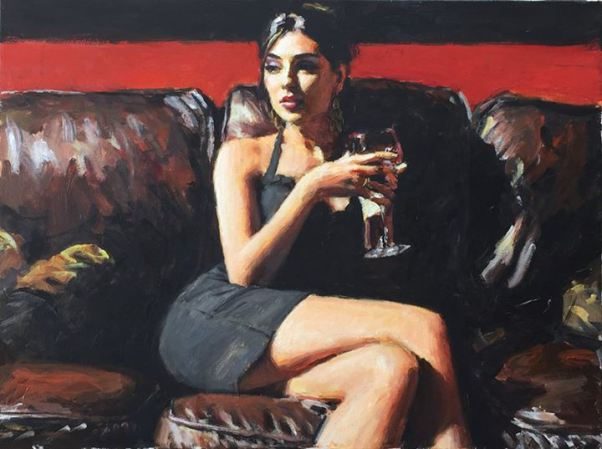 Fabian perez realistic sensational paintings