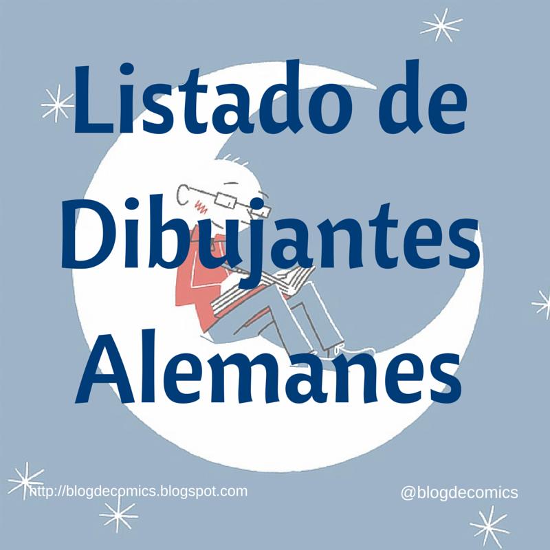 LISTADO DE DIBUJANTES ALEMANES