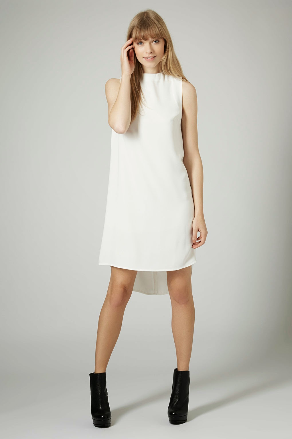 topshop white shift dress
