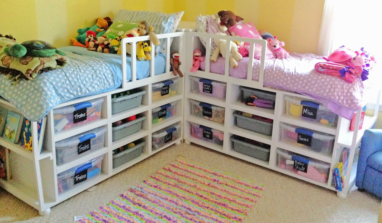 DIY Toddler Storage Beds