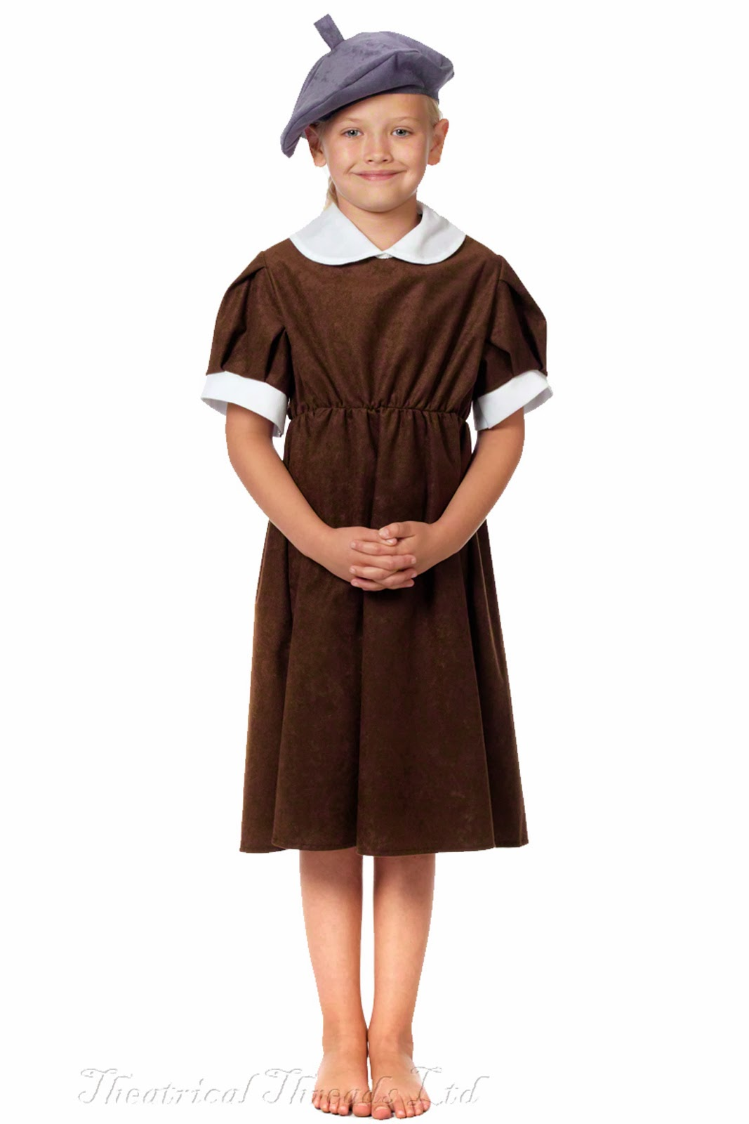 Kids Evacuee Costume age 8-10 & 10-12 years from Theatrical Threads