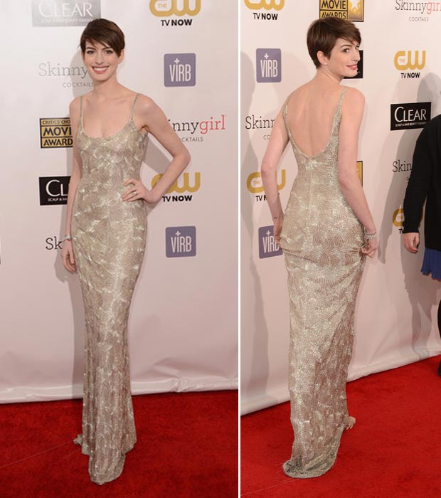 Anne Hathaway Gown: Cérémonie : Retour Sur Les Critics Choice Movie Awards