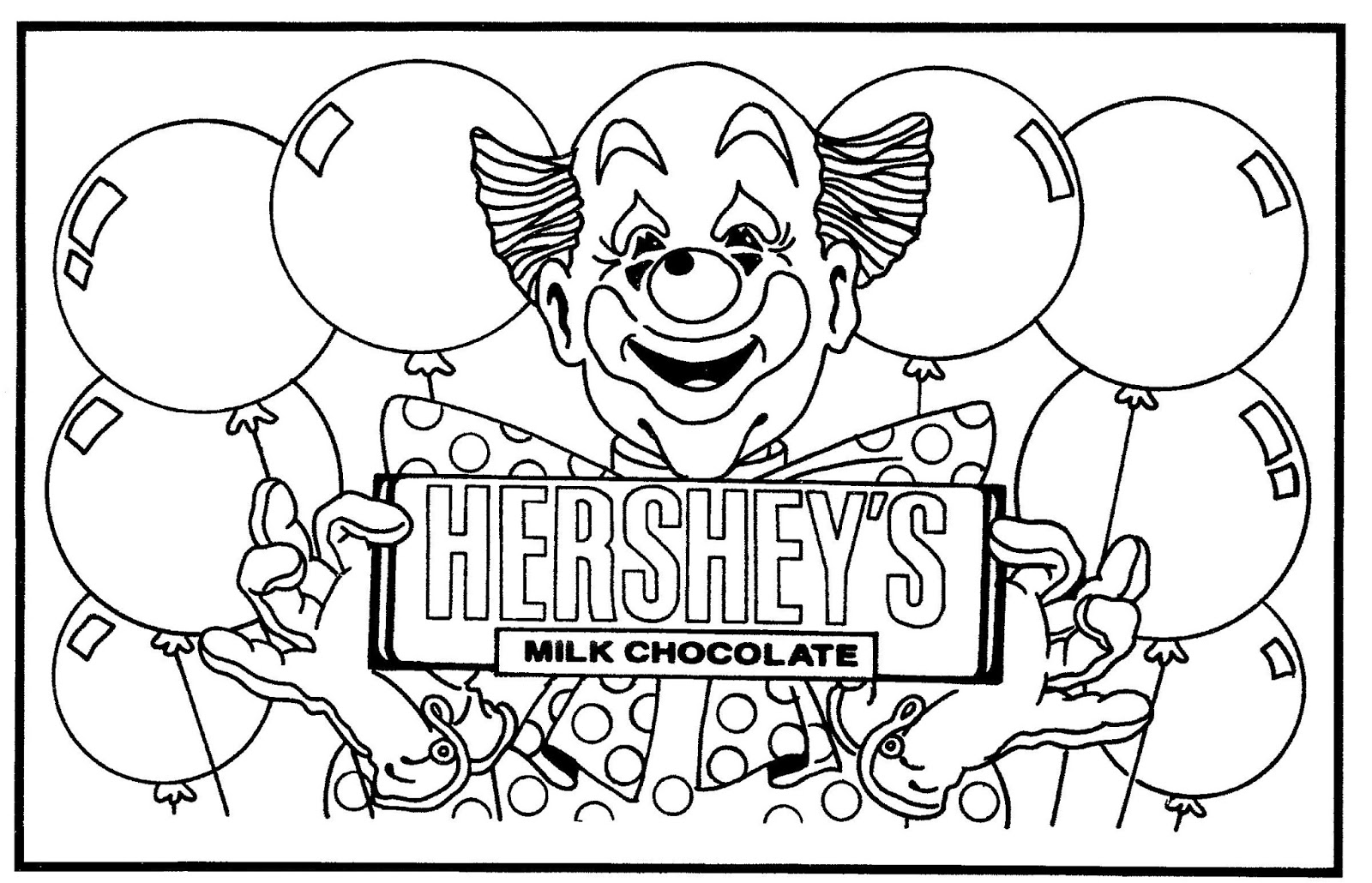 hersheys coloring pages - photo#1