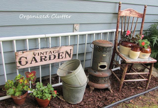 Garden Junk Vignette