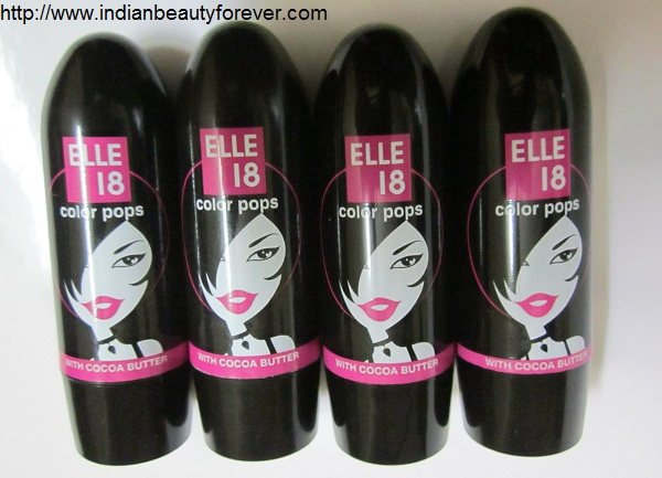 elle 18 lipsticks color pops