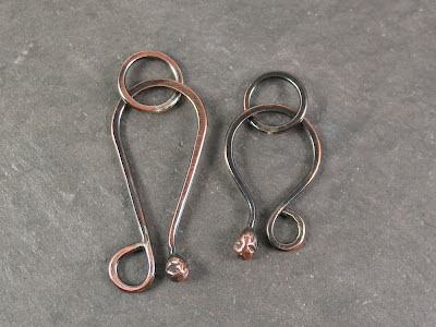 handmade soldered copper clasps