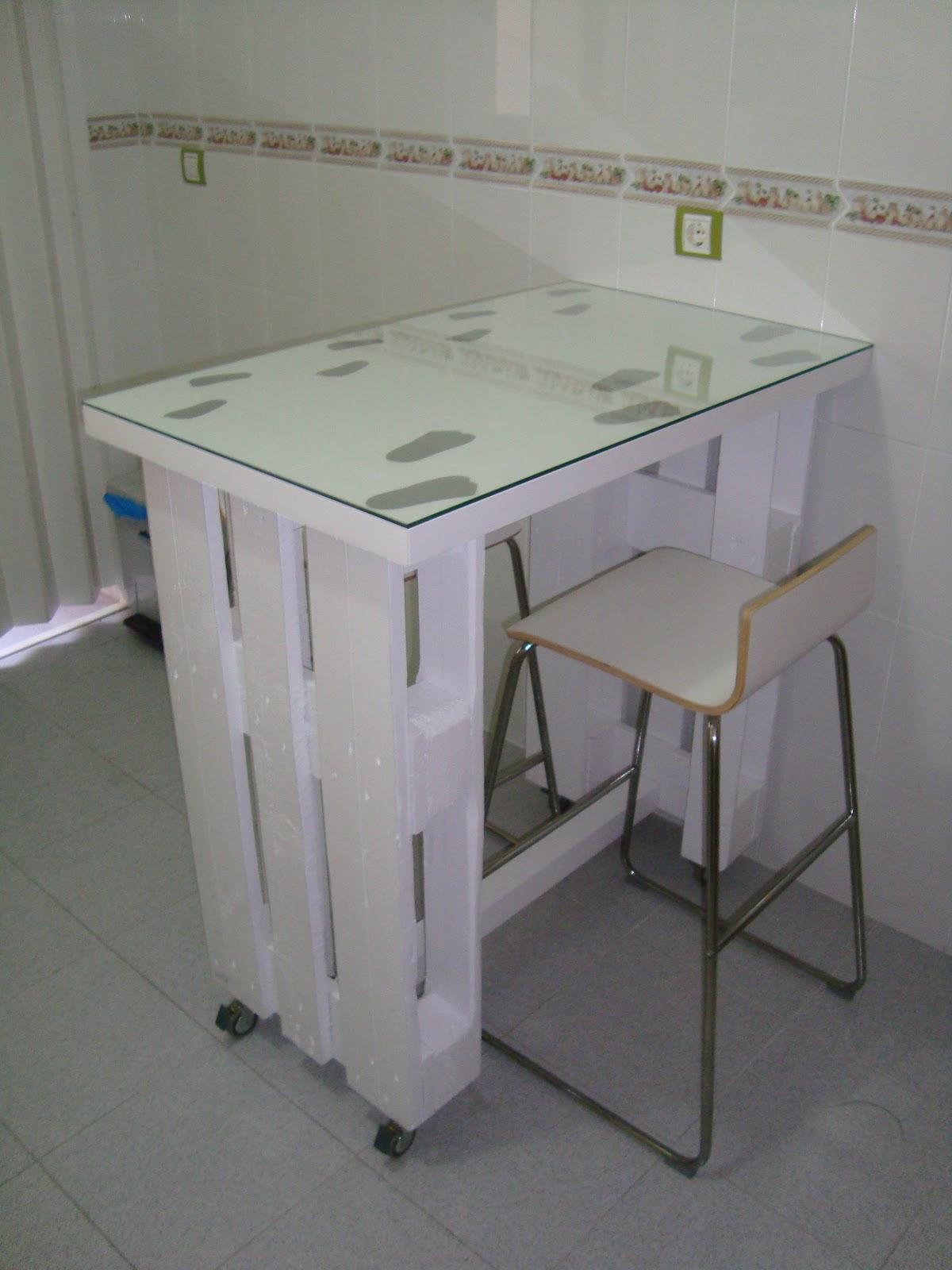 Mesa de oficina de palets escritorios con palets - Mesa de palets ...