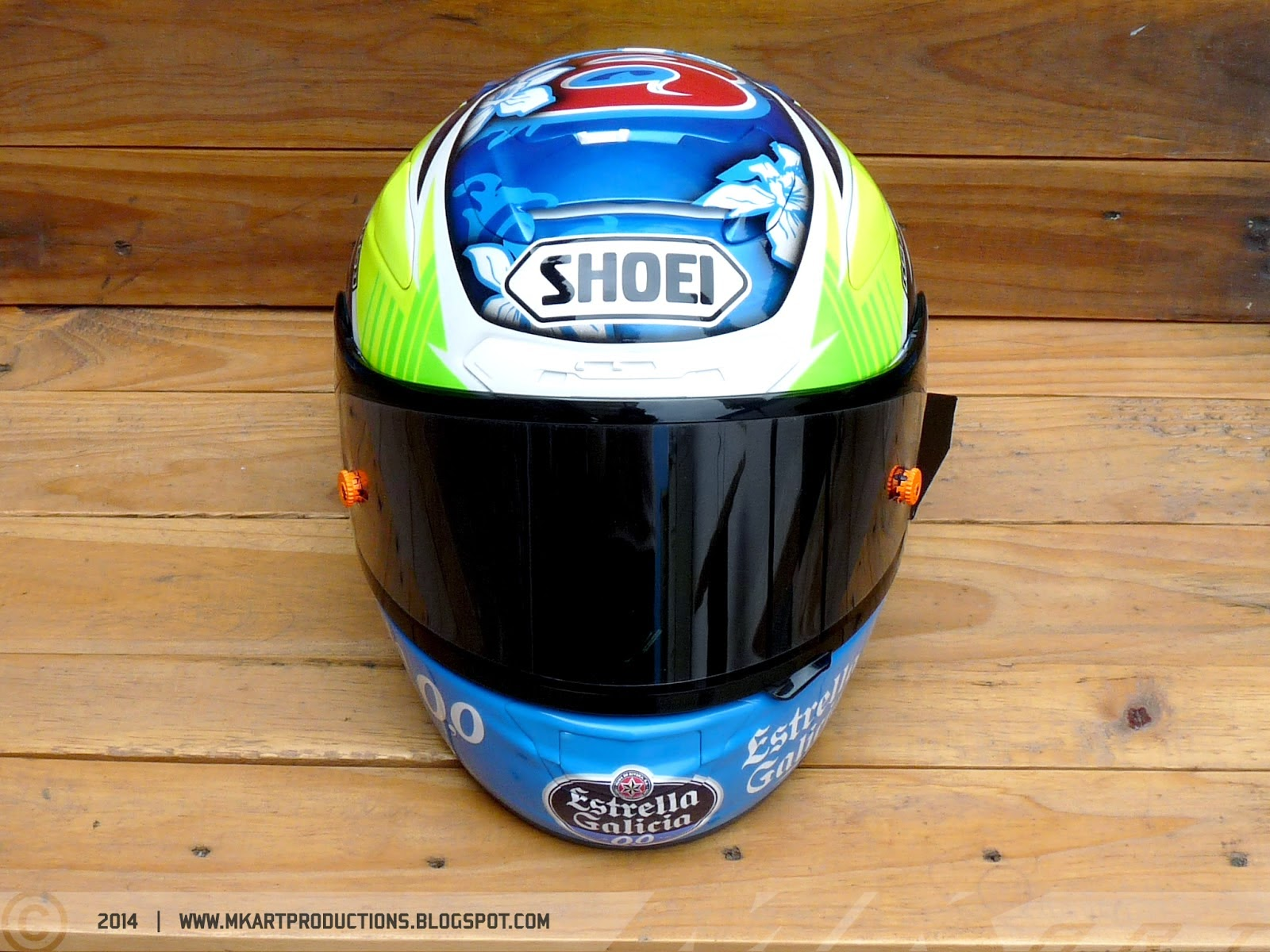 Shoei X-Spirit II M.Herrera 2014 by ASD - painted by MK Art Productions