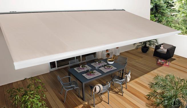 Toldos para refrescar as casas decora o e ideias - Toldos impermeables para terrazas ...