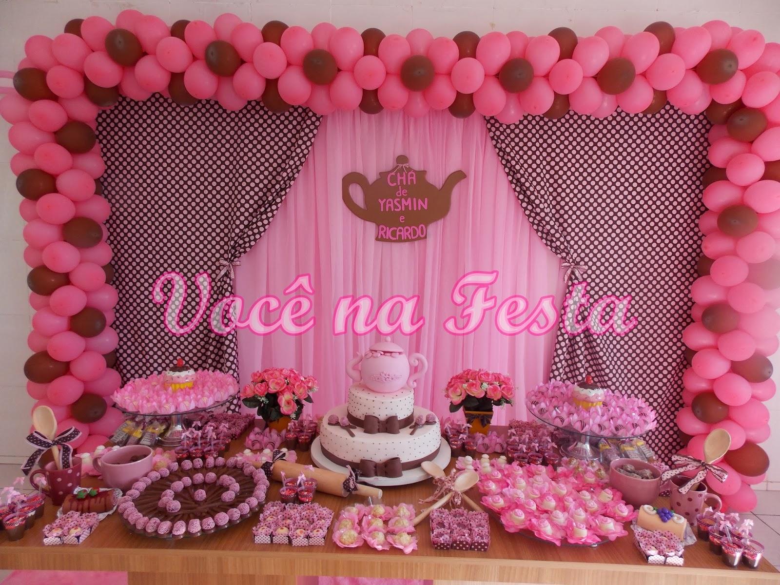 ... cha bar tabua decorada com marrom e rosa decoracao # decoracao cozinha