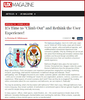 UX Magazine: Climb Out for Bathroom Blogfest 2011
