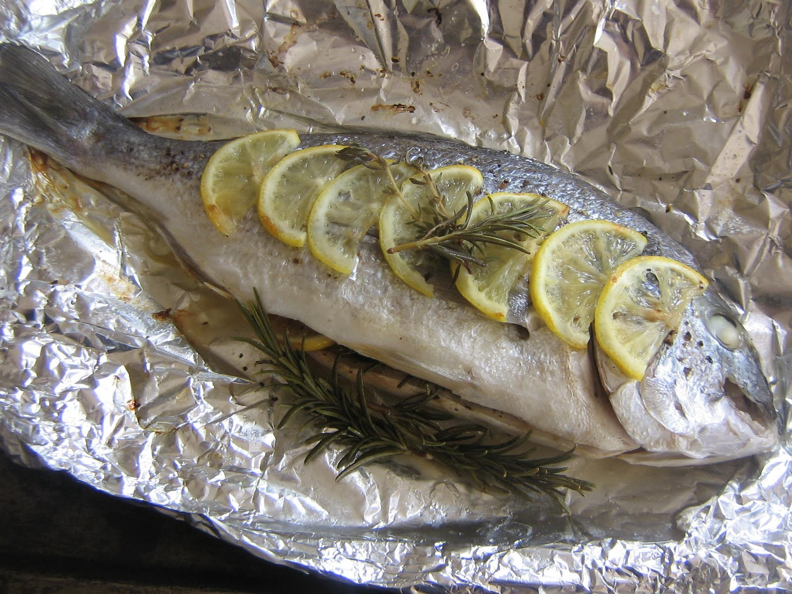 Robyn's Recipes: Baked Sea Bream and Rice Pilaf