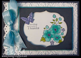 Bordering on Romance Card by UK Stampin' Up! Demonstrator Bekka Prideaux