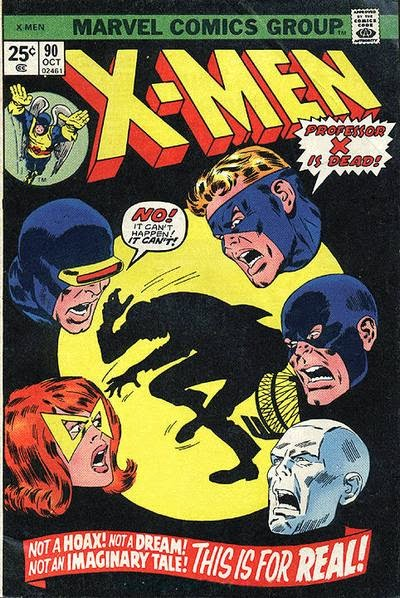 X-Men #90, Professor X is dead