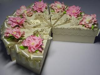 Упаковка для свадебного торта своими руками 26