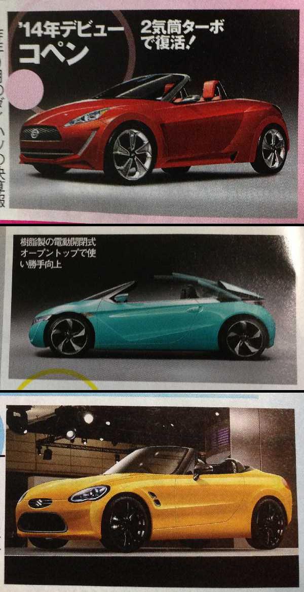 Nowe Daihatsu Copen, Honda Beat i Suzuki Cappuccino, kei car, mały samochód