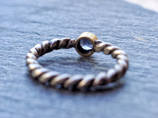 Fairtrade spinel ring