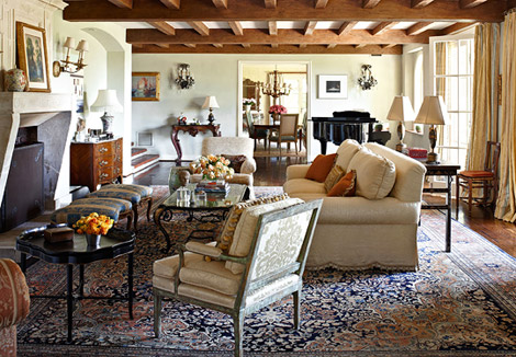 New Home Interior Design: JoBeth Williams Spanish-Style Home