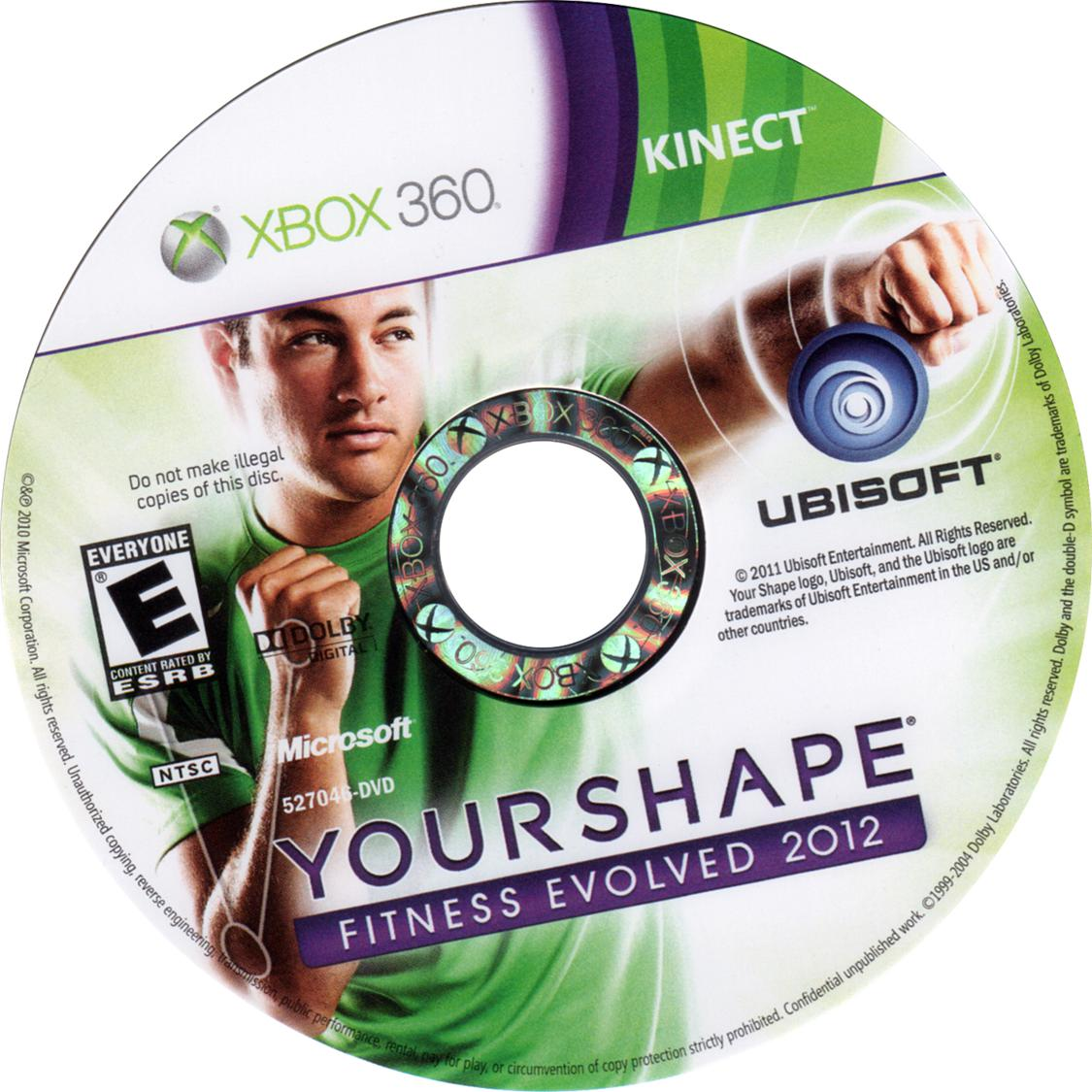 Your shape fitness evolved 2012 (xbox 360 kinect)