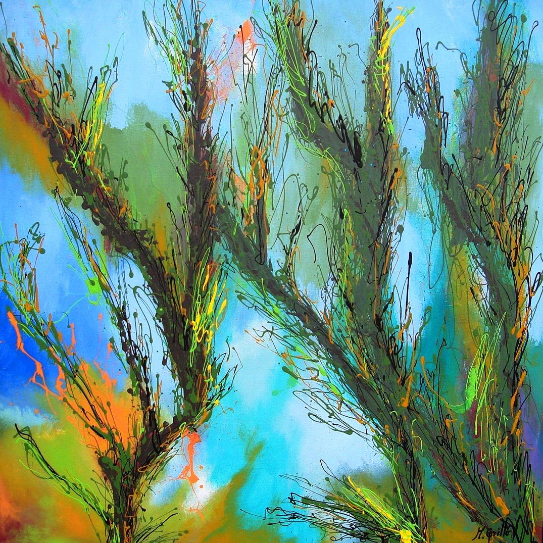 Cuadros modernos pinturas y dibujos paisajes abstractos - Fotos cuadros abstractos ...