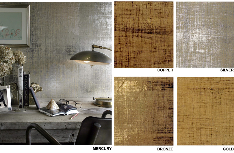 Design m ltiplo papeis de parede metalizados - Ideas for covering wallpaper ...