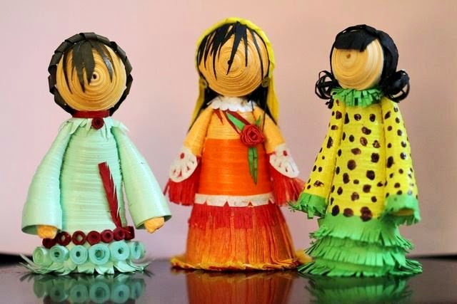 wonderful 3D paper quilling dolls