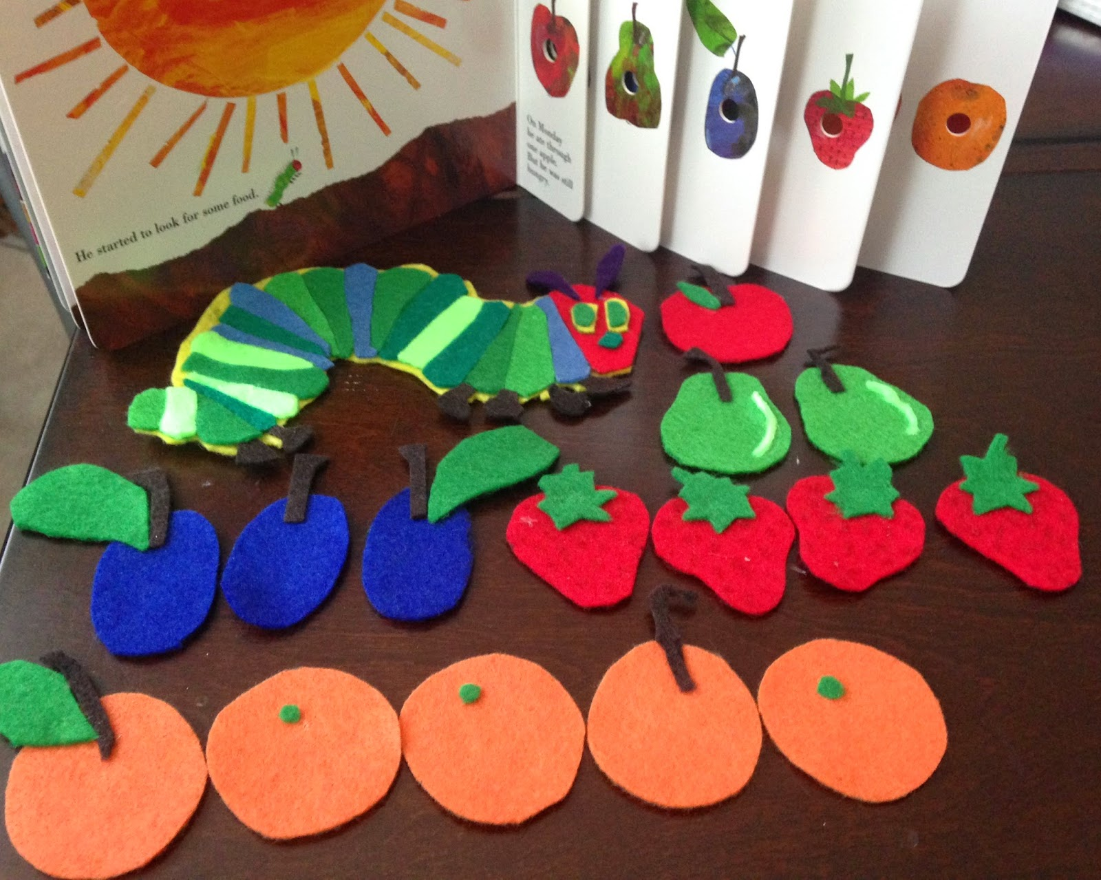 Frugal Allergy Mom: Felt Stories: The Very Hungry Caterpillar