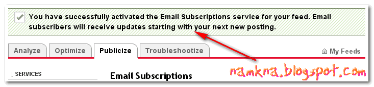 """Sửa lỗi """"The feed does not have subscriptions by email enabled"""""""