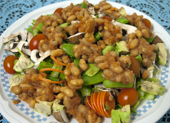 Cold Baked Beans are good on a Salad