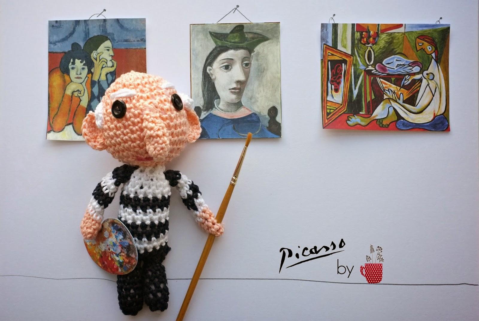 picasso peintre amigurumi crochet yard julie adore
