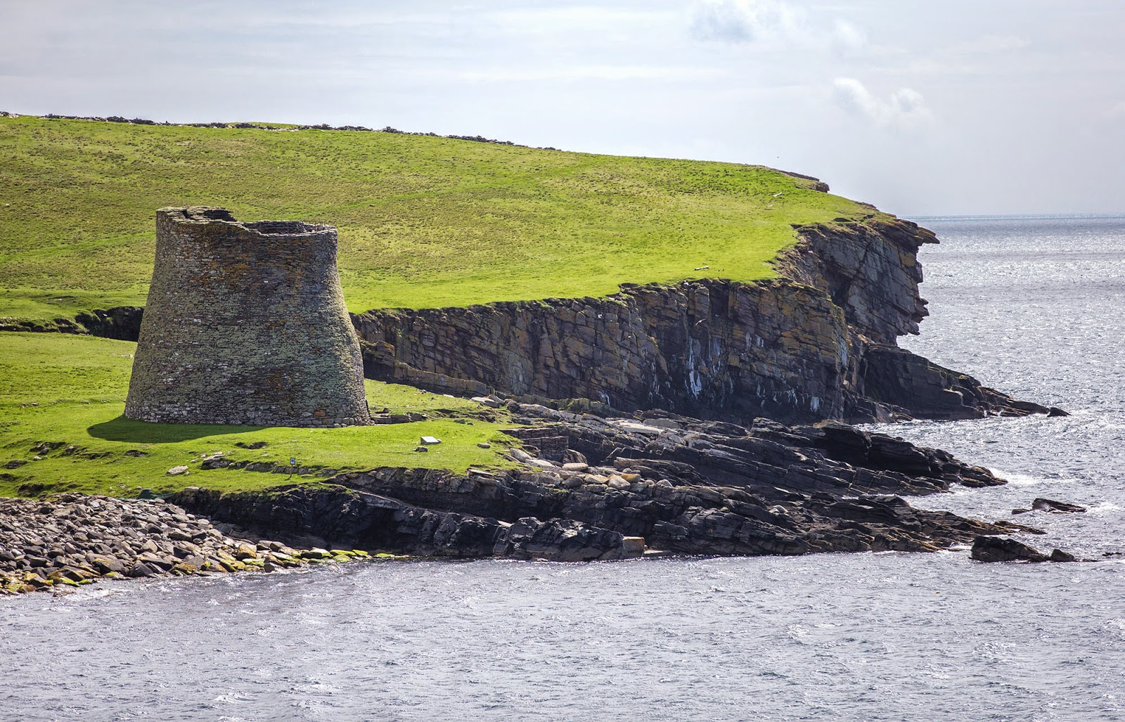 A fortress at the edge of the world - the Broch of Mousa, a 44ft high Iron Age stone keep on the island of Mousa, Shetland, Scotland [1600 × 1027]