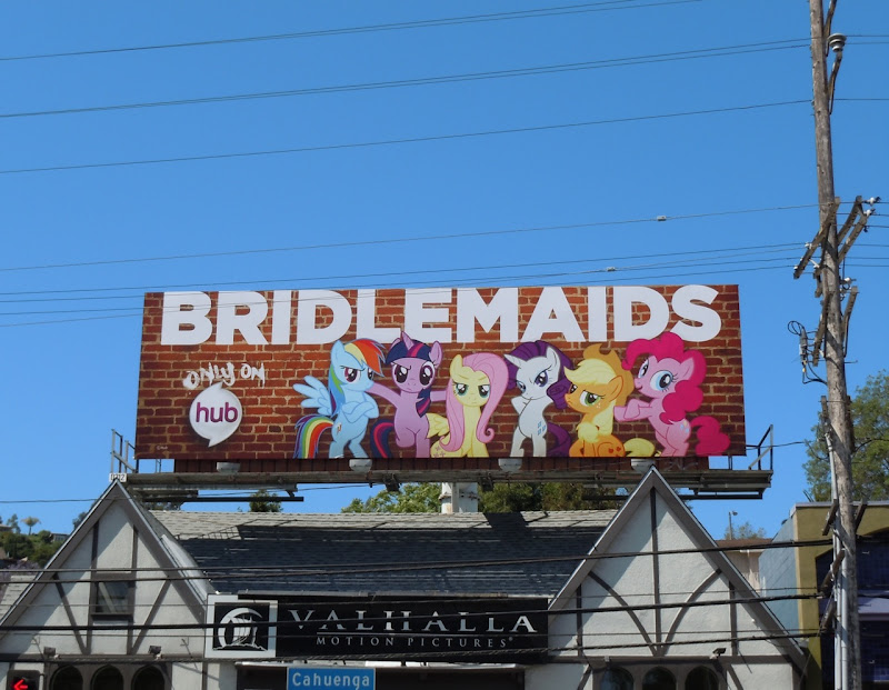 Bridlemaids cartoon billboard