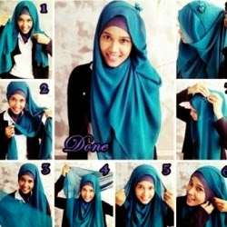 Cara pakai hijab terbaru
