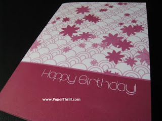 Red daisies birthday card