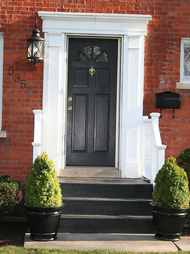 The thrifty home 86th penny pinching party door color Best front door colors for brick house