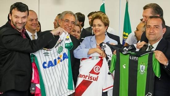 Presidente Dilma Rousseff recebeu representantes de alguns clubes em Brasília