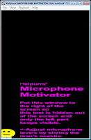 MICROPHONE MOTIVATOR (tool for kids class)