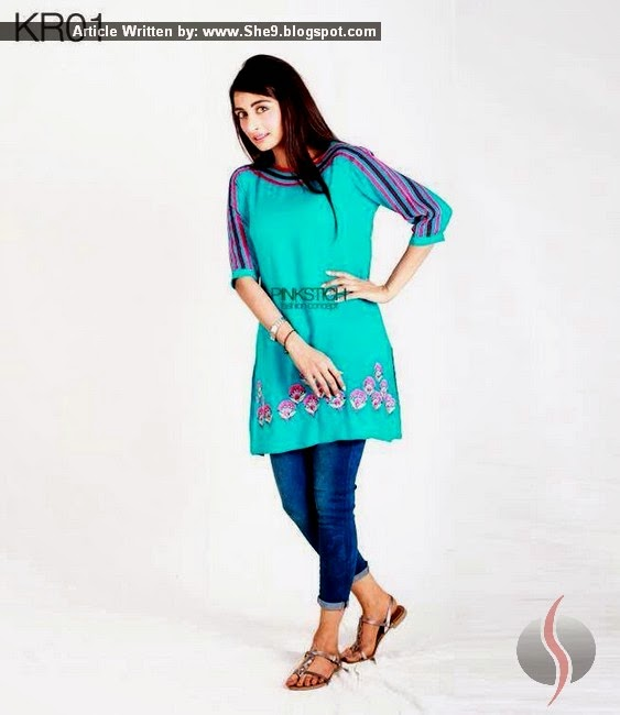 Pinkstich Winter 2015 - Kurti for Teenager Girls in Pakistan - She9 | Change the Life Style