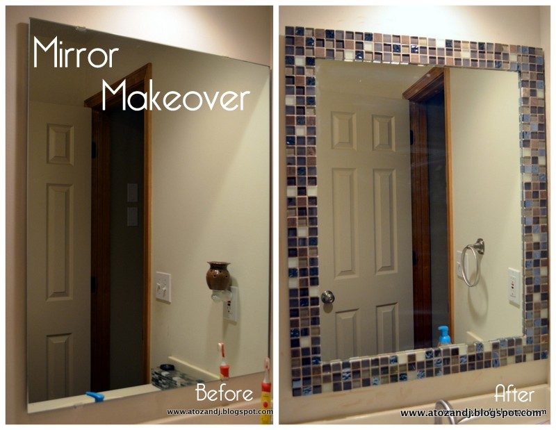 A to Z with a little J: Mirror Makeover